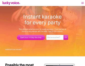 luckyvoicekaraoke.com screenshot