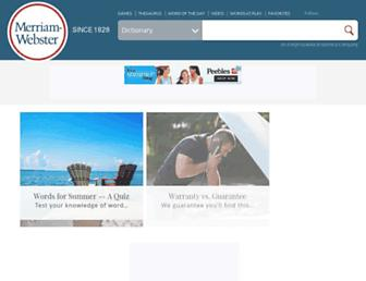 merriam-webster.com screenshot