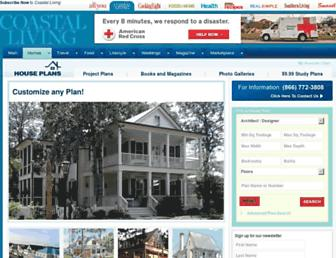 coastallivinghouseplans.com screenshot