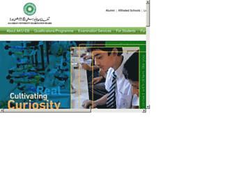 examinationboard.aku.edu screenshot