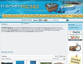 euromedpiscines.com screenshot