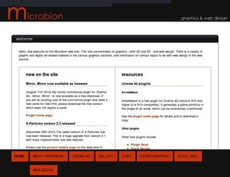 microbion.co.uk screenshot