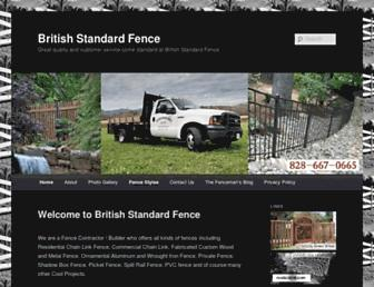 britishstandardfence.com screenshot