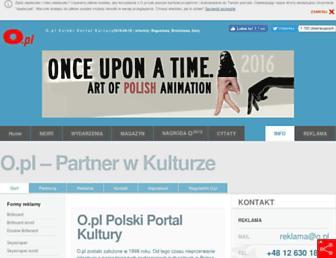 Main page screenshot of info.o.pl
