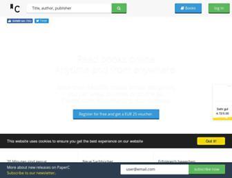 Main page screenshot of paperc.de