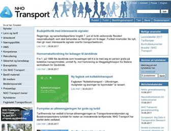 Main page screenshot of transport.no