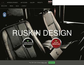 ruskindesign.co.uk screenshot