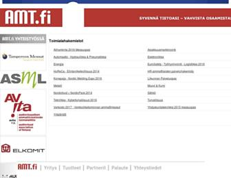 Main page screenshot of amt.fi