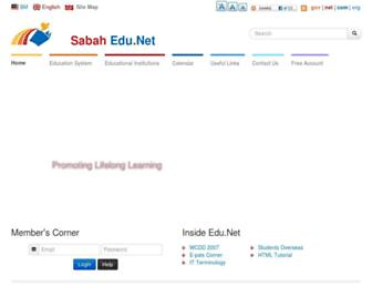Thumbshot of Sabah.edu.my