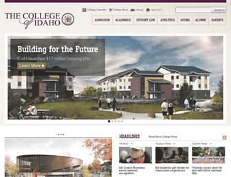 collegeofidaho.edu screenshot
