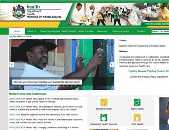 Thumbshot of Kznhealth.gov.za