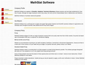 mathstat.com.au screenshot
