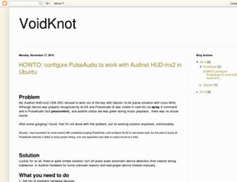 voidknot.blogspot.com screenshot
