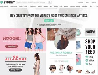 Screenshot for storenvy.com