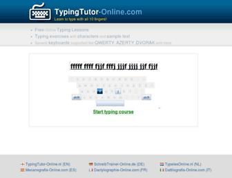 typingtutor-online.com screenshot