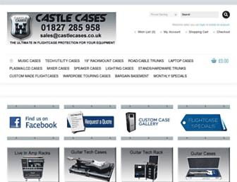 castlecases.co.uk screenshot