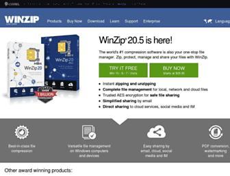 kb.winzip.com screenshot