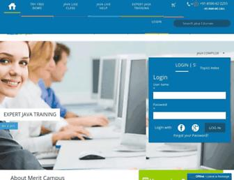 java.meritcampus.com screenshot
