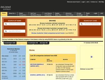 delisted.com.au screenshot
