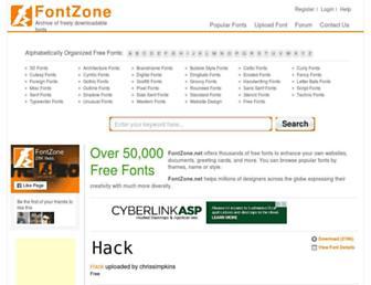 Thumbshot of Fontzone.net