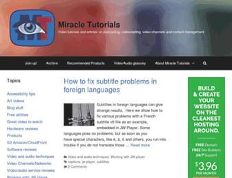 miracletutorials.com screenshot