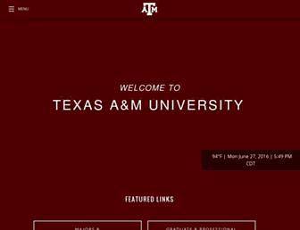 Main page screenshot of tamu.edu