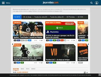 jeuxvideo.com screenshot