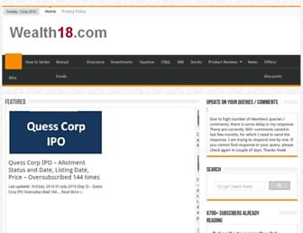 wealth18.com screenshot