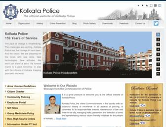 Thumbshot of Kolkatapolice.gov.in