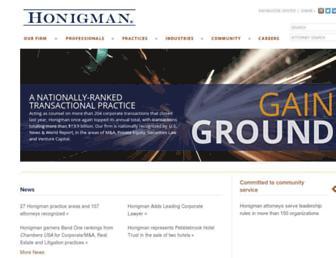 honigman.com screenshot