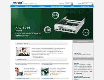 areca.com.tw screenshot