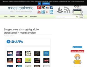 Main page screenshot of maestroalberto.it
