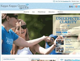 Main page screenshot of kappakappagamma.org