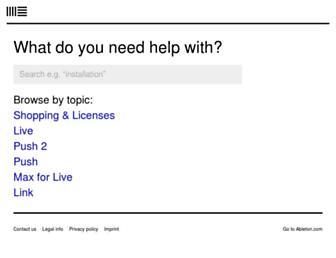 help.ableton.com screenshot
