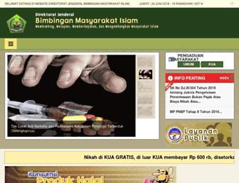 Main page screenshot of bimasislam.kemenag.go.id
