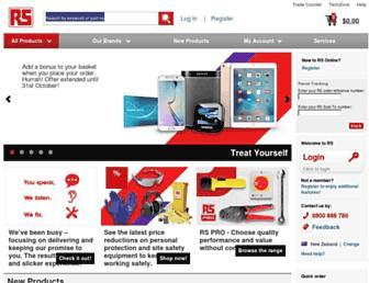 nz.rs-online.com screenshot