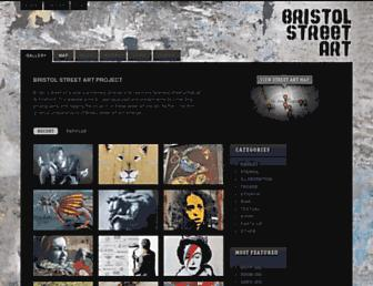 Main page screenshot of bristol-street-art.co.uk
