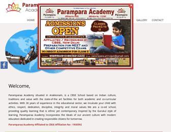 paramparaacademy.com screenshot