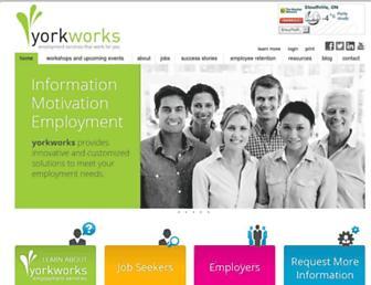 Main page screenshot of yorkworks.ca