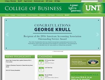cob.unt.edu screenshot