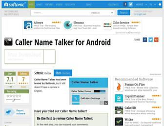 caller-name-talker.en.softonic.com screenshot
