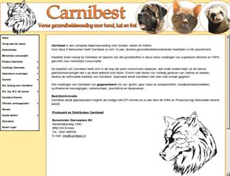 Main page screenshot of carnibest.nl