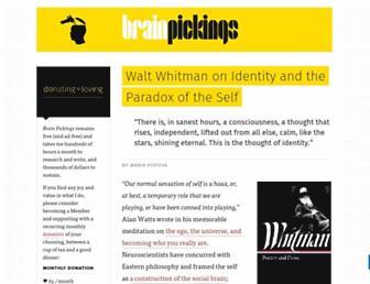 Thumbshot of Brainpickings.org