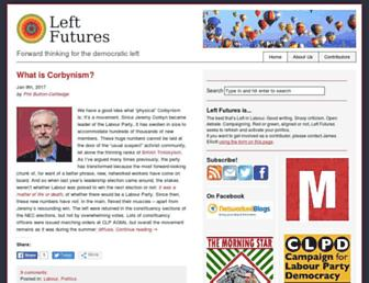 Main page screenshot of leftfutures.org