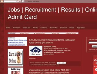 fresherjobsmania.blogspot.com screenshot