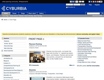 Main page screenshot of cyburbia.org