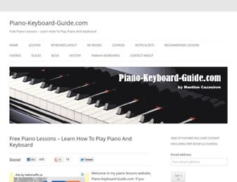 piano-keyboard-guide.com screenshot