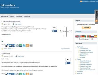 tekreaders.com screenshot