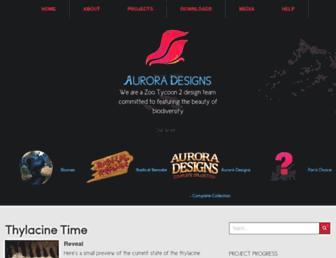 auroradesigns.org screenshot