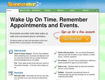 snoozester.com screenshot